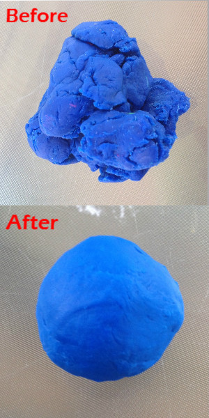 play doh before and after photo comparison
