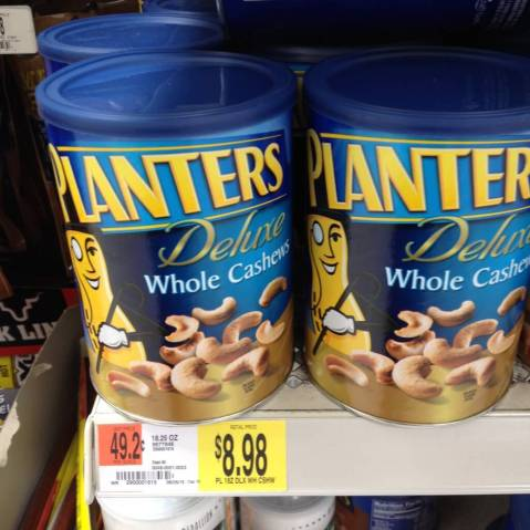 cans of planters whole cashews