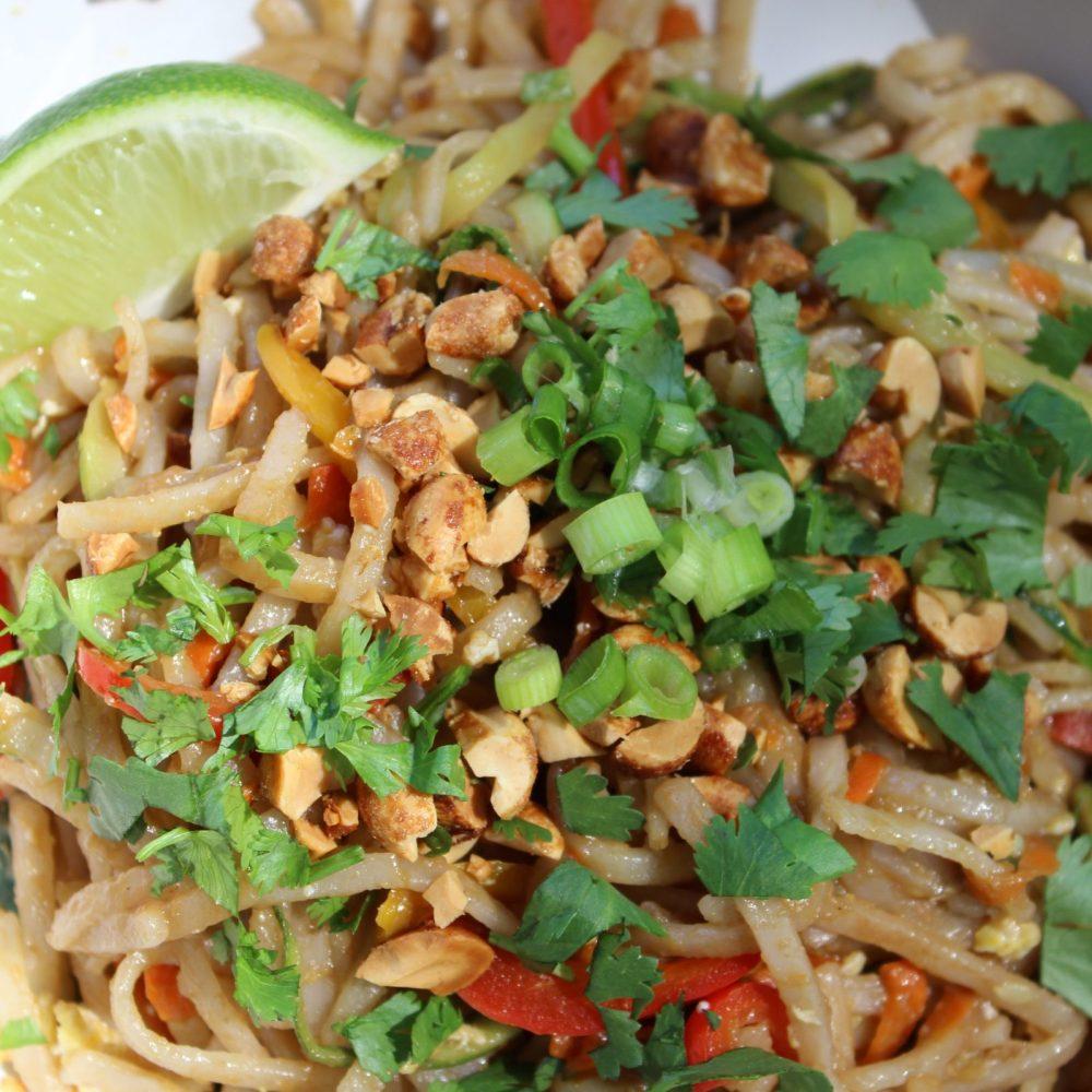 Asian Peanut Noodles with Veggies