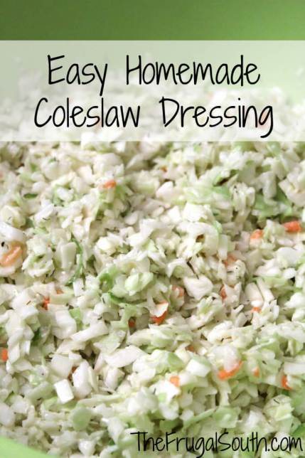 Easy Homemade Coleslaw Dressing Pinterest Image