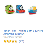 Amazon: Free Thomas Squirters ($11.99 value) with $20 Thomas & Friends purchase