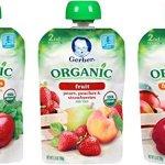 Amazon: Gerber Organic Fruit & Veggie Pouches 18 ct. as low as $12.28
