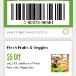 $5 off $15 Produce Coupon on Whole Foods App!