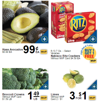 ad showing groceries on sale