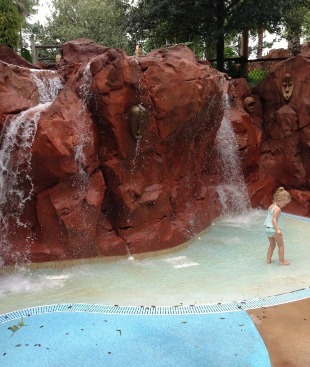 kiddie waterfall and pool