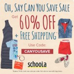 50% off + Free Shipping on Clothes & Shoes at Schoola