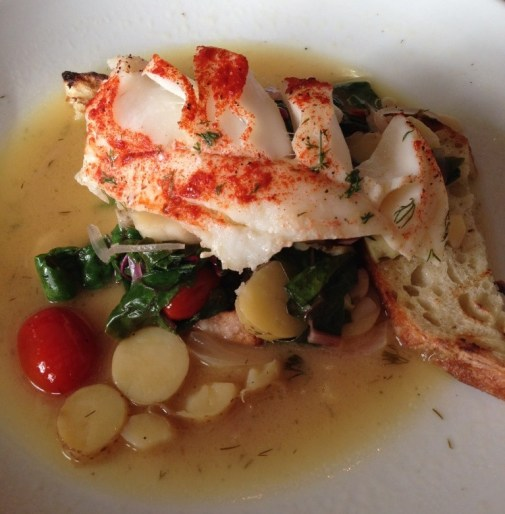 Oven-baked Cod entree