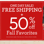 EXPIRED: Gymboree: Free Shipping + 50% off Fall Favorites (Today Only)