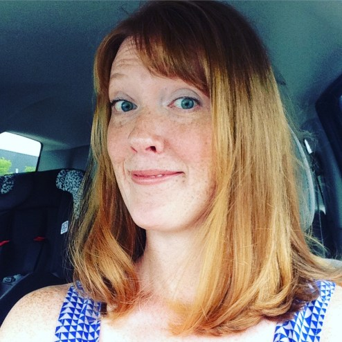 woman's selfie after haircut