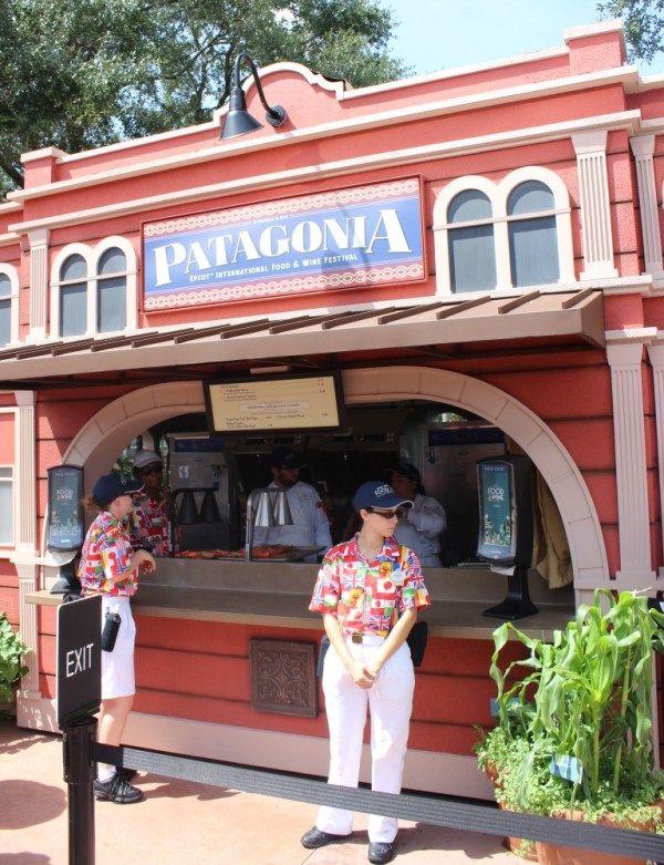 Patagonia booth at epcot food and wine festival