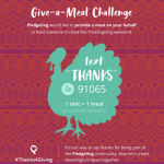 Pledgling: Donate a Thanksgiving Meal for Free via Text