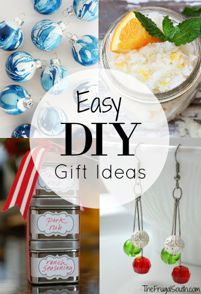 Easy DIY Homemade gift ideas that anyone can make! Even non-crafty folk (like me) can make these easy and affordable DIY gifts.
