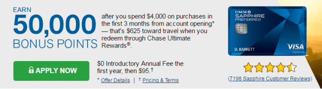 Chase Sapphire Credit Card Promotion