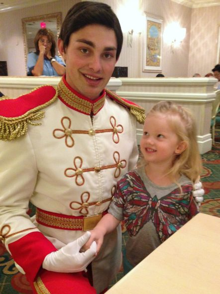 little girl meeting prince charming