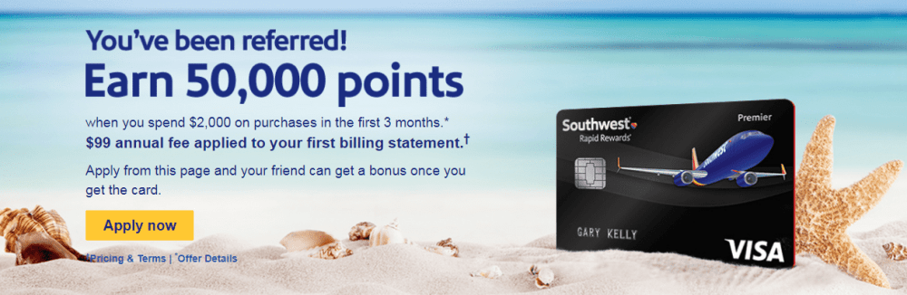 southwest credit card promotion