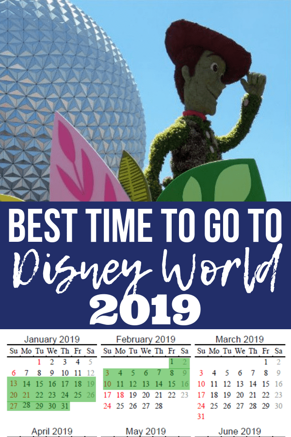 The Best Time to Go To Disney World in 2021 + FREE Printable Calendar!