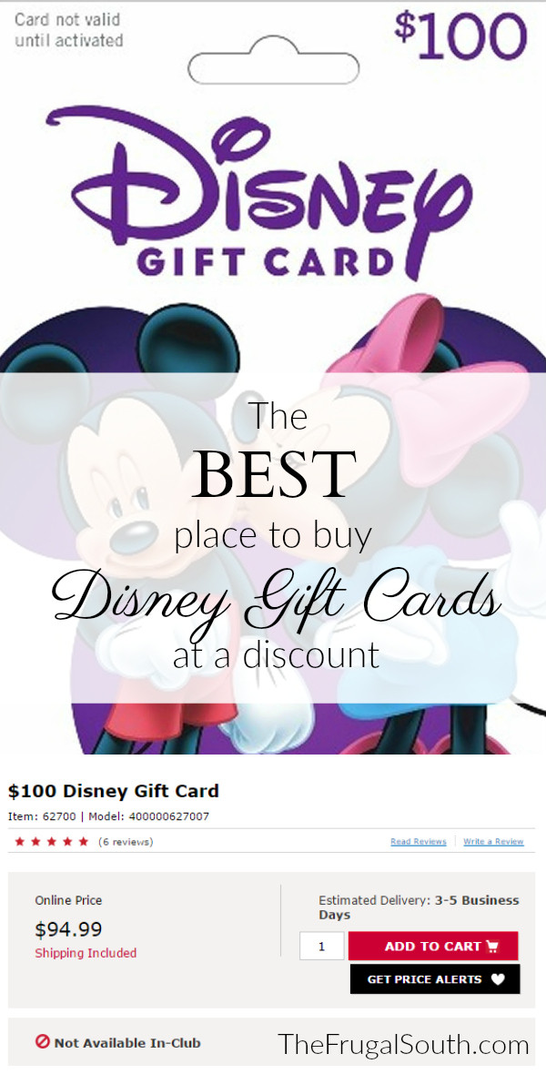 My #1 Source for Discounted Disney Gift Cards - The Frugal South
