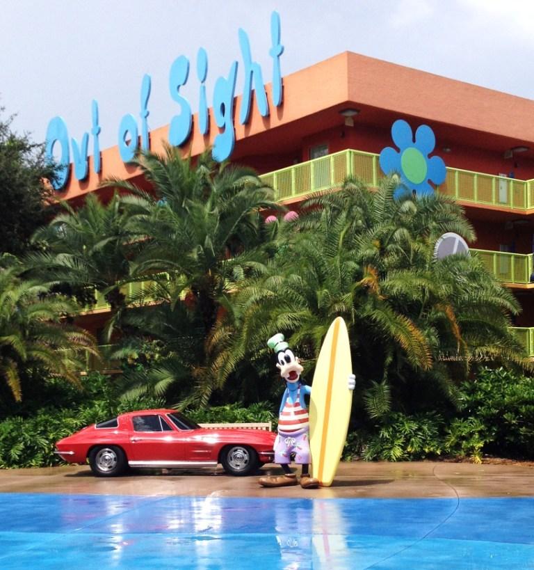 surfer goofy statue