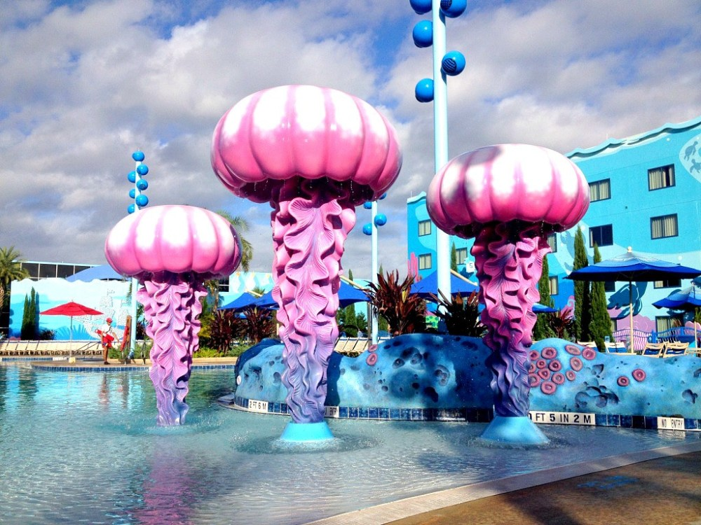 Finding Nemo pool at Disney Art of Animation Resort