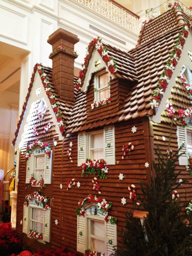 The life-sized gingerbread house at the Grand Floridian