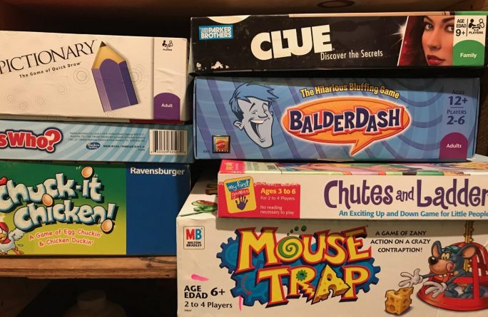 pile of board games