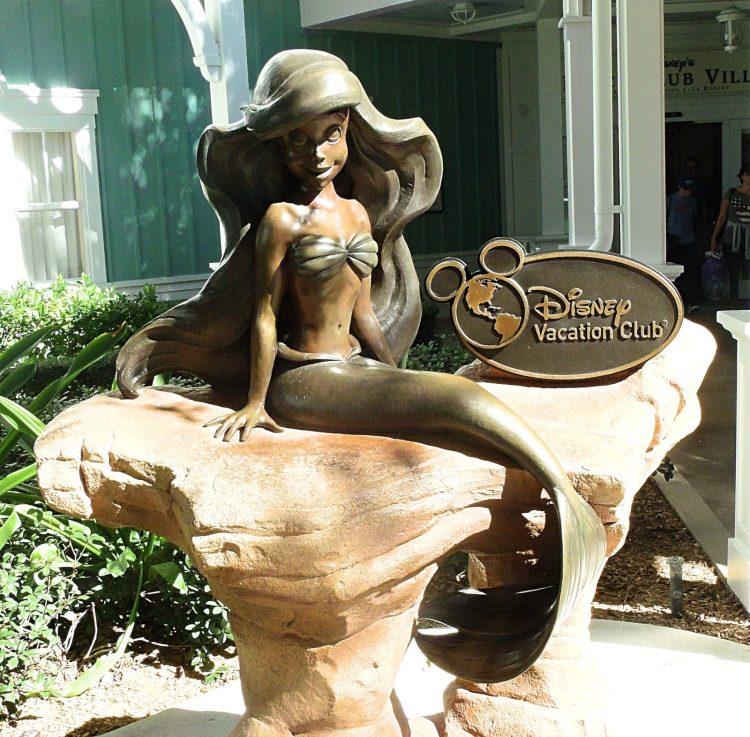 Ariel statue with Disney vacation club plaque
