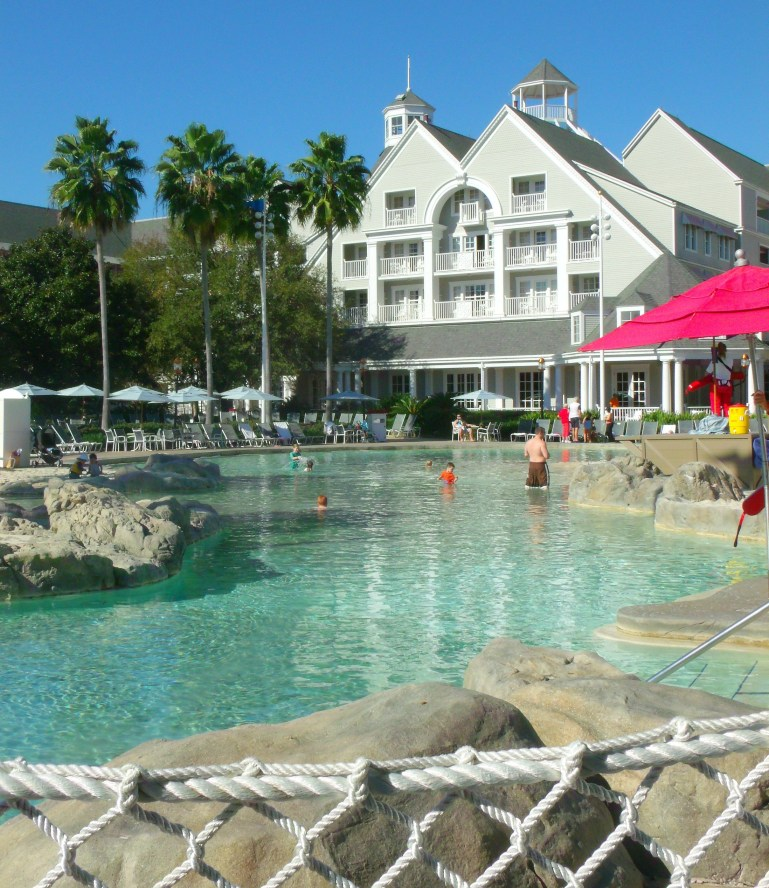 pool area at disney beach club resort