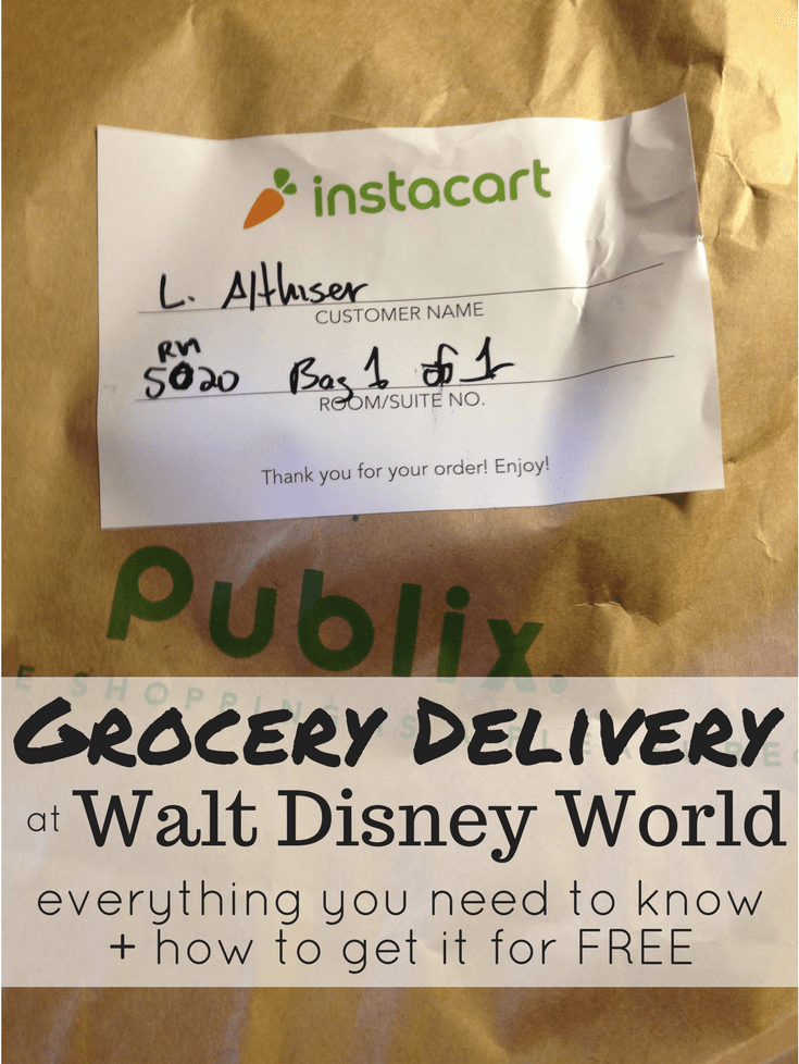 Grocery Delivery at Disney World! How to get it for FREE + everything else you need to know about getting groceries delivered right to your resort hotel at Walt Disney World. #disneyworld #familytravel