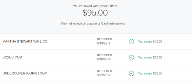 Amex offers savings
