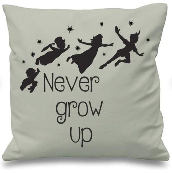 Peter Pan Never Grow Up Pillow
