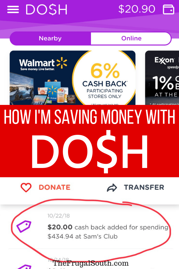 Dosh might be the easiest way to earn cash back that I\'ve found. Learn how to save money with the Dosh app in this post! #frugal #frugalliving #savemoney #cashback
