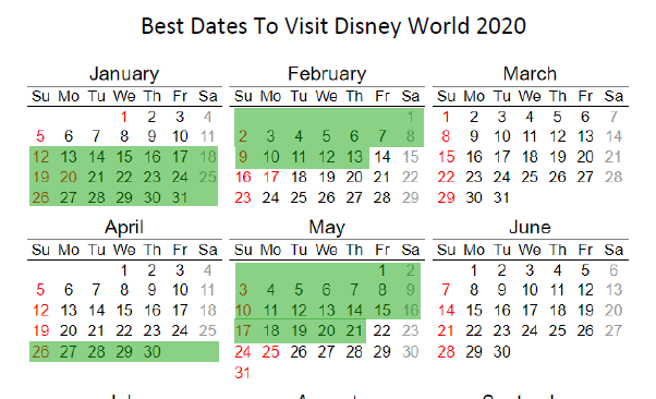 Best Time To Go To Disney World 2020.Disney World Crowd Calendar 2018 And 2019