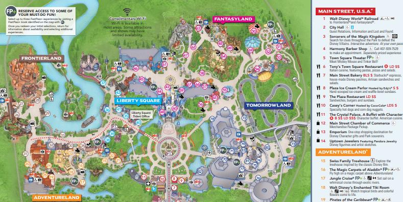 Top Printable Magic Kingdom Map | Hugh Website