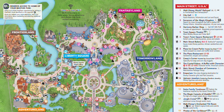 Universal image with magic kingdom printable map