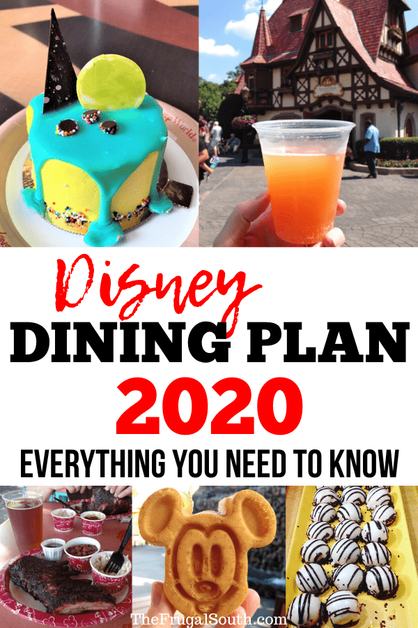 Everything you need to know about the Disney Dining Plan 2020! Cost, what is included, different plans, credits, where to use your dining plan and more. Disney World tips and tricks, hacks, planning advice, and Disney food. #disneyworld #disneydiningplan #disneyworld2019 #disneydiningplan2019 #traveltips #disneyvacation