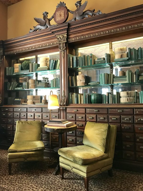interior of gryphon tea room - things to do in savannah ga with kids