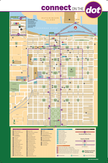 savannah free trolley map from DOT