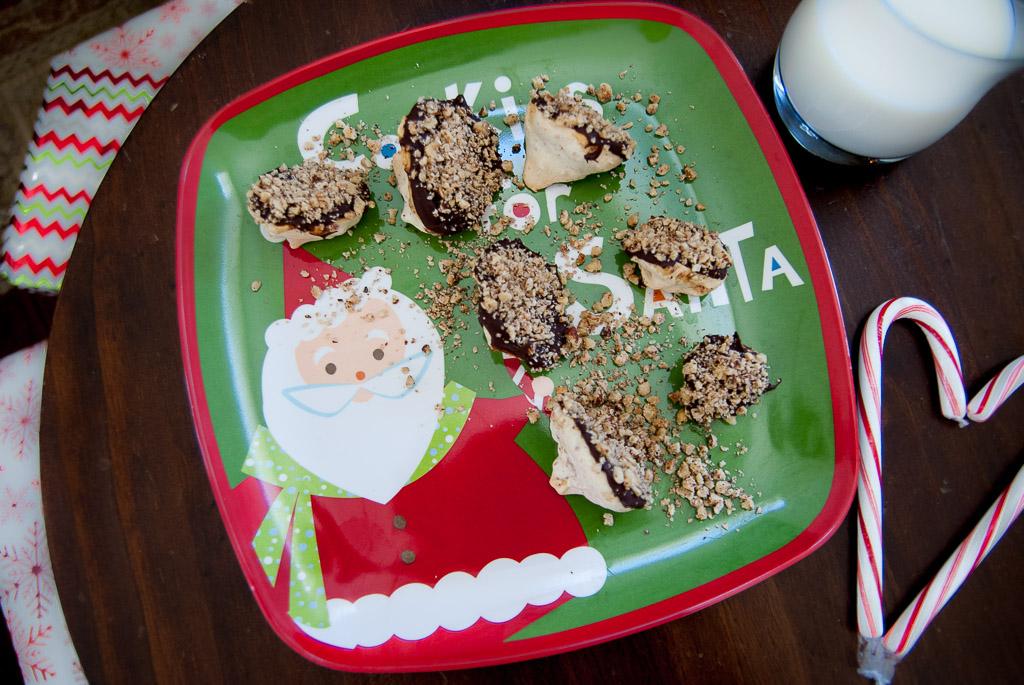 Dark Chocolate Hazelnut Meringue Cookie