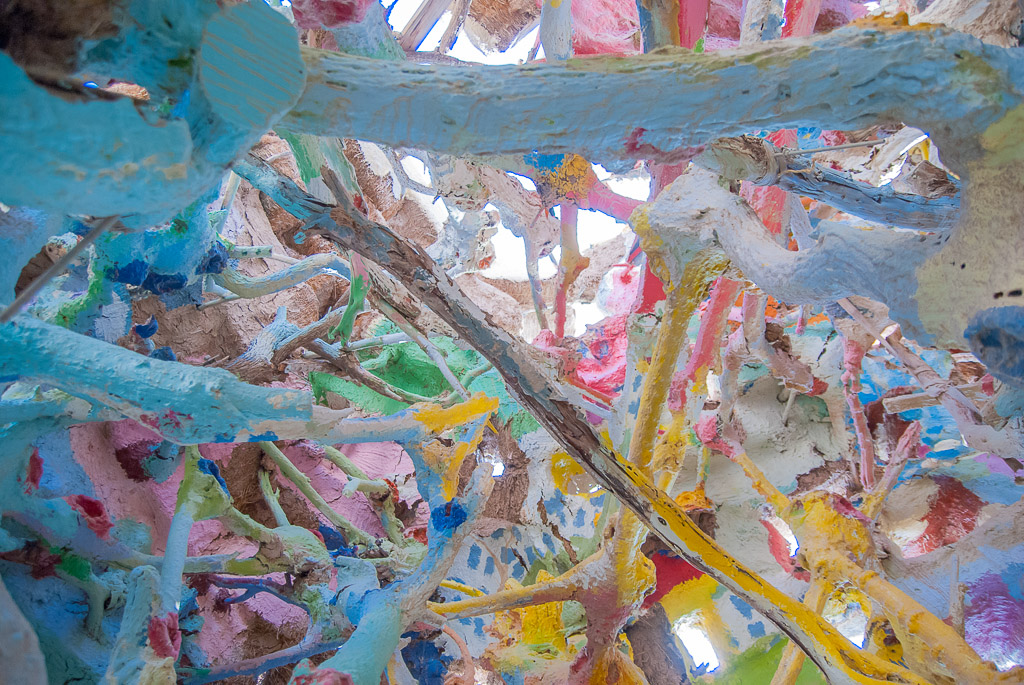 The ceiling inside Salvation Mountain