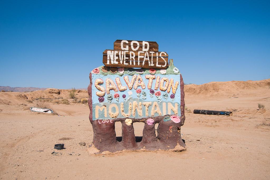 Salvation Mountain in the Colorado Desert