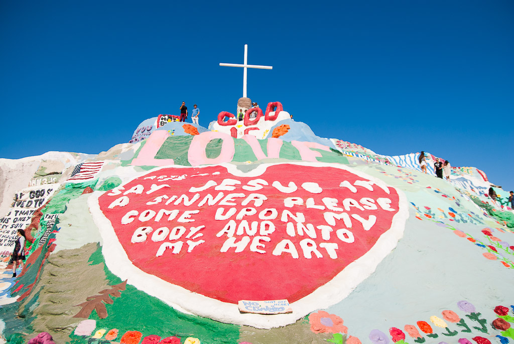 Salvation Mountain made by artist