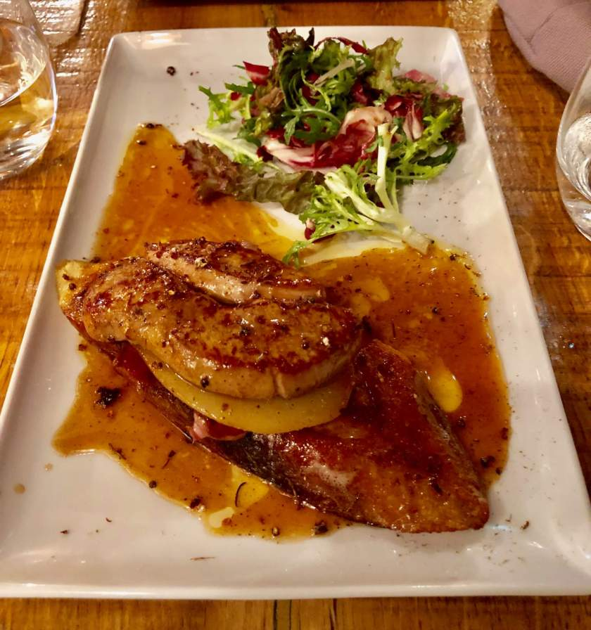 Decadent French meal in Paris