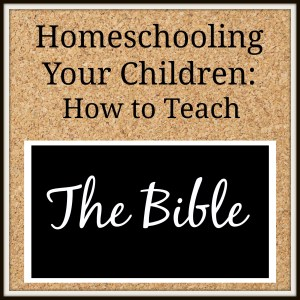 Teach the Bible