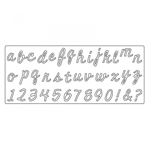 Sizzix Big XL Die Cutout Script 662709 Tim Holtz