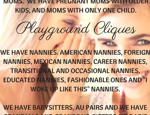 moms, nannies, au pairs, babysitters, clique