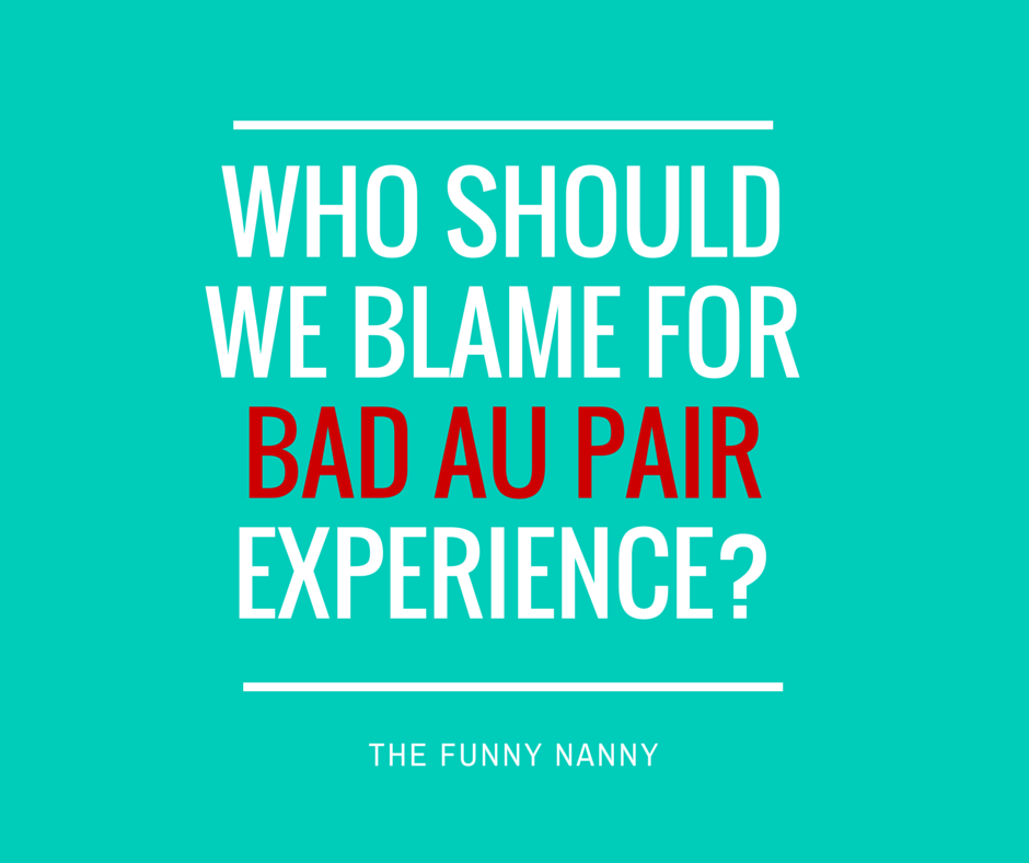 Could it be that this new generation of au pairs is being entitled and not willing to actually make it work unless it's their way?