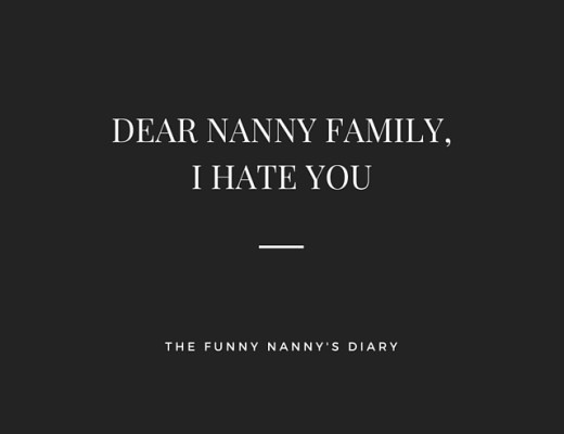 Dear Nanny Family, Let's Break Up