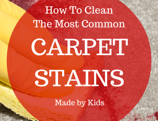 Ice cream, blood, crayons, mud and more stains your kids made on carpet can be removed easily. Check out here how to clean certain materials and stains