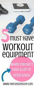These are PERFECT for my tiny space to still get a workout in at home! #homeworkout #homegym #fitness #minimalist