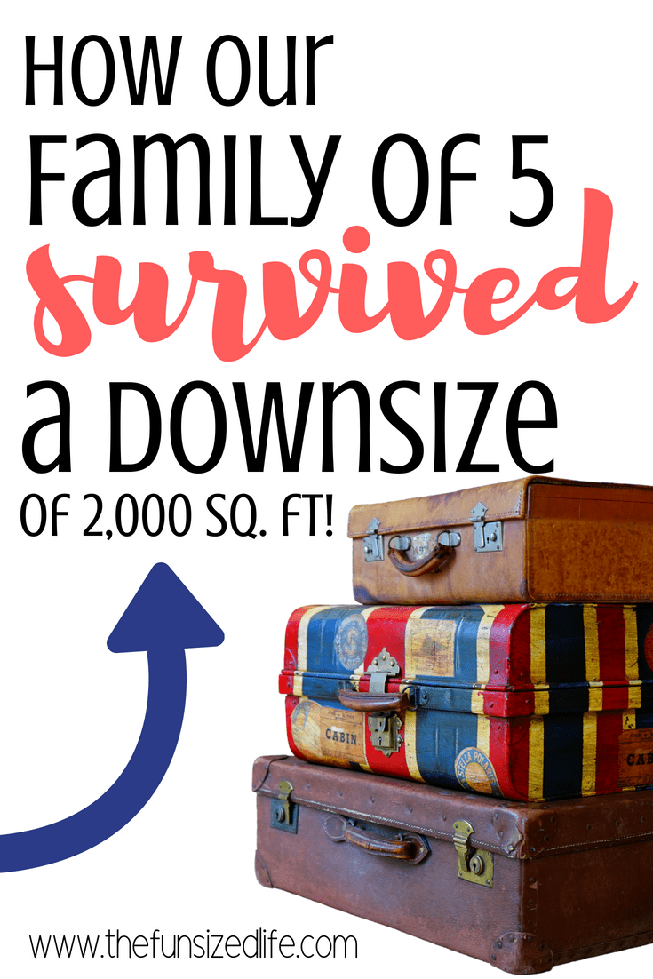 Downsizing with a family is totally doable. Minimalism with kids can happen. We lived to tell about it! #downsizing #downsizewithfamily #minimalist #minimalismwithkids